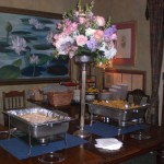 Flowers and Buffet at Wedding Reception