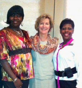 (from left) Charmaine James, Housekeeper of the Year; Janice DeLerno, and Cynthia Shelmire