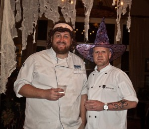 Chefs Jay Ducote and Chris Wadsworth at The Stockade Bed and Breakfast