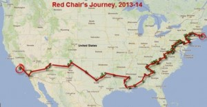 Map of Red Chair Journey