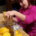 6-year old grating lemons