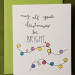 Christmas card Bright Lights