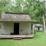 Slave Cabin located at the Audubon State Historic Site in St. Francisville