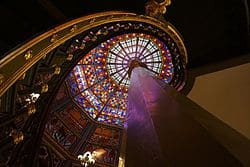 Stained glass dome in the Old Louisiana State Capitol