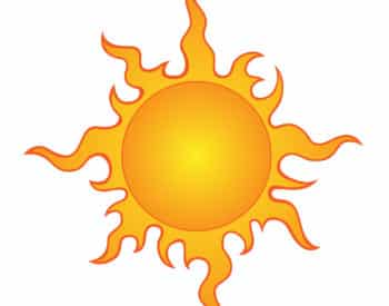 Graphic of sun
